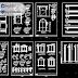 مجموعة بلوكات تفاصيل نوافذ ابواب و اعمدة اوتوكاد dwg