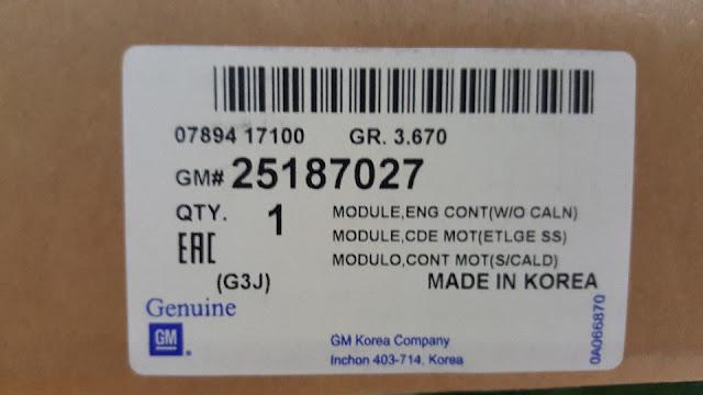 Hộp đen xe Cruze 1.6 chính hãng GM