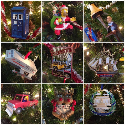 christmas ornament collage simpsons star trek doctor who travel souvenirs