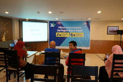 Acara Press Conference Jaringan Baru XL baru di Frekuensi U900