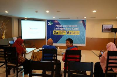 Acara Press Conference Jaringan Baru XL baru di Frekuensi U900