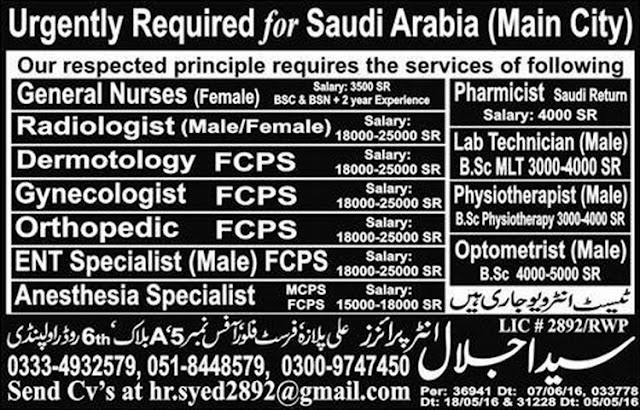 Medical Jobs in Saudi Arabia for Doctors and Nurses
