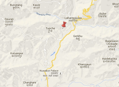 nuwakot earthquake epicenter map