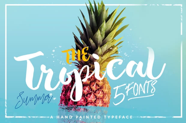Tropical Brush_free font