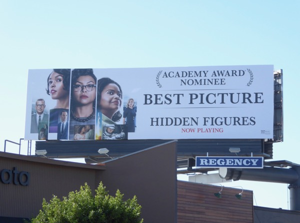 Hidden Figures Oscar nominee Best Picture billboard