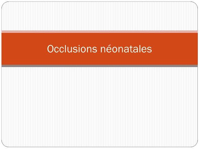 Occlusions néonatales .pdf