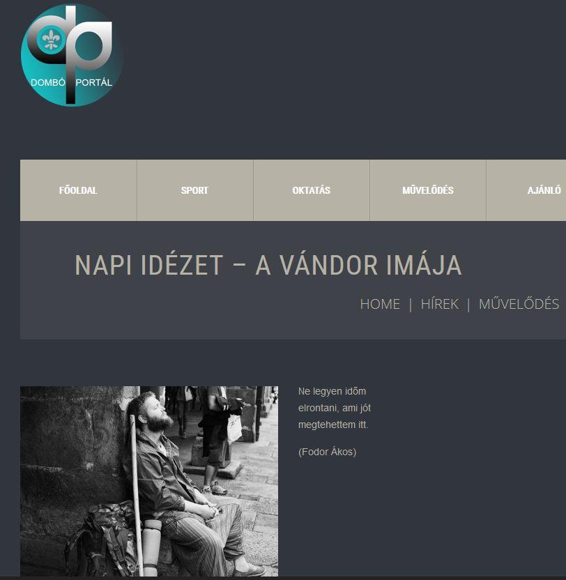 http://www.domboportal.hu/napi-idezet-vandor-imaja/