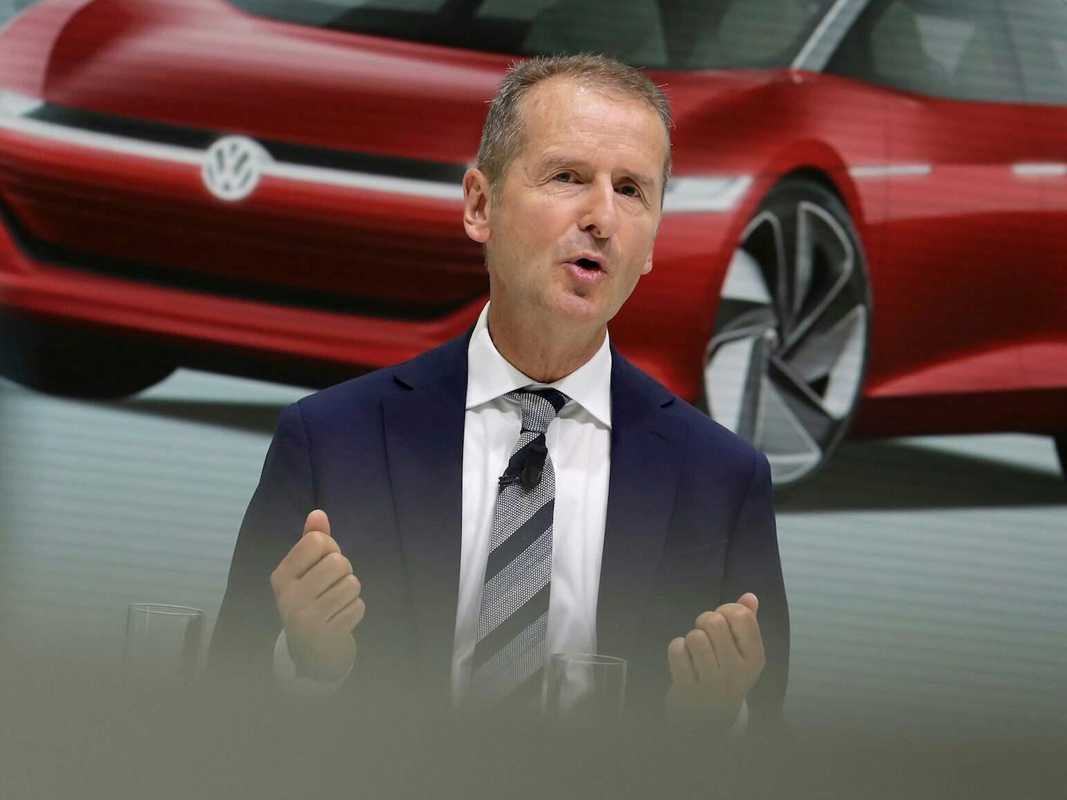 "CEO of Volkswagen Herbert Diess said that ""It will make better EVs than Tesla"""