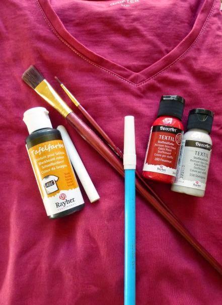 T-Shirt, Tafelfarbe, Textilfarbe, Pinsel