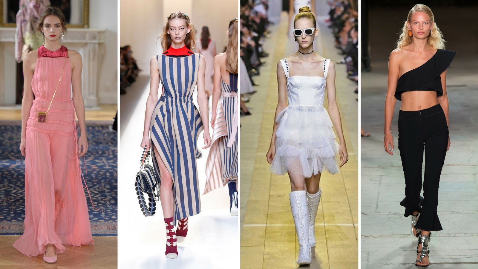 The new spring shop on Fashion Need and spring's 2017 hottest trends, spring 2017 follow, spring 2017 must have, spring 2017 trends shows, fashion need, Valentina Rago, one shouldered pieces, high waist trend, pink trend, seaside stripes, fashion need spring shop