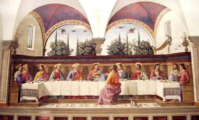 Pintura de La Última Cena de Jesús por Domenico Ghirlandaio