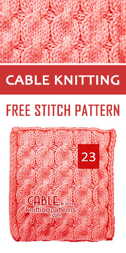 Cable Knitting Free Stitch Pattern 23