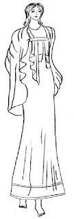 Chlamys yaitu busana yang menyerupai himation, yang berbentuk longgar. Biasanya dipakai oleh kaum pria Yunani Kuno