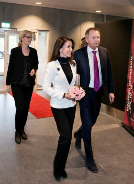 Danish Princess Marie attended the opening of Birkerød Gymnasium Model United Nations Conference 2017 (BIGMUN) at Birkerød Gymnasium