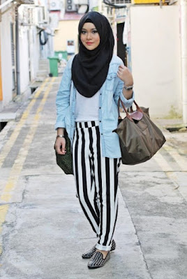 fashion hijab casual modern