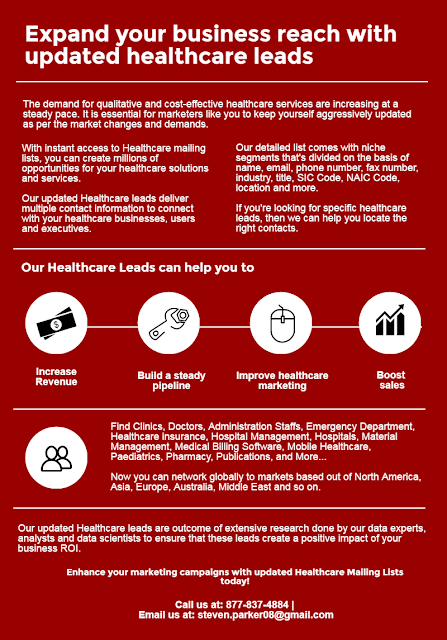 healthcare leads, healthcare mailing list, healthcare emailing list, healthcare email list, healthcare
