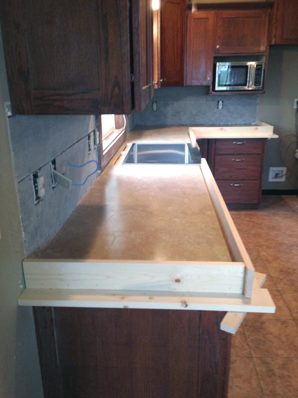Pour Concrete Over Tile Countertop