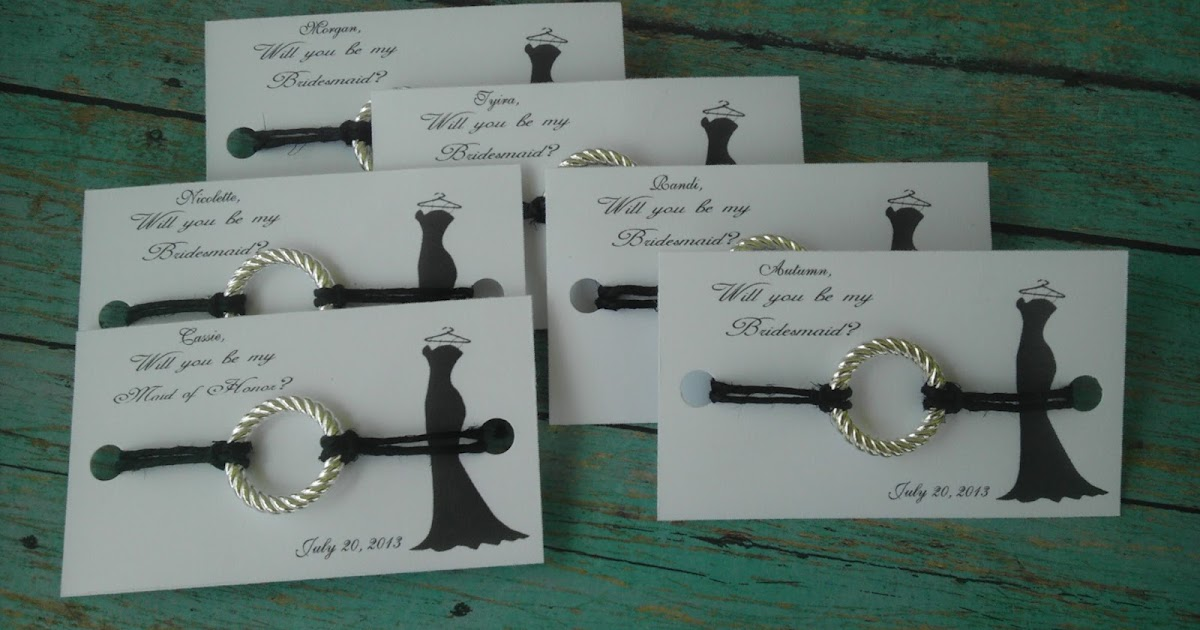 Wedding Gifts For Maid Of Honor: That Wedding Boutique: Bridesmaid Card With Bracelet