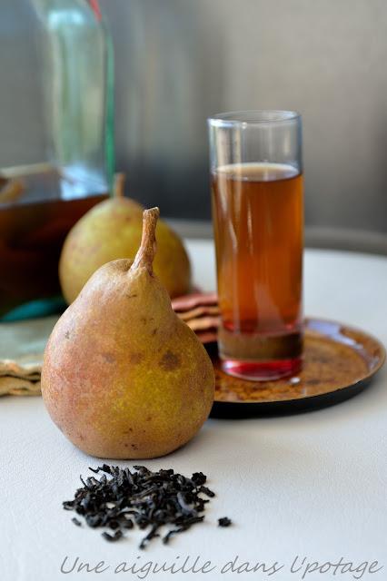 Rhum arrangé à la poire, anis étoilé et Lapsang Souchong