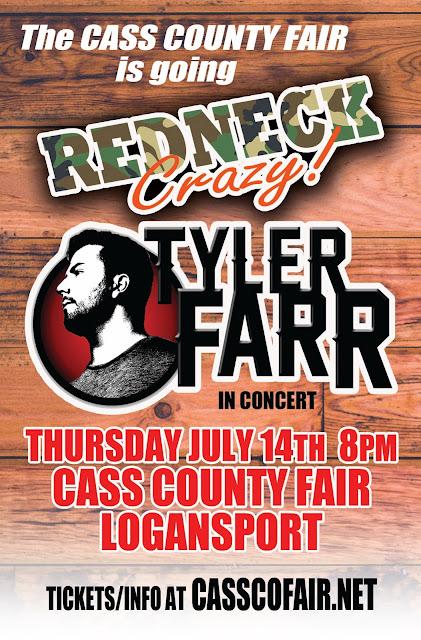 Tyler Farr at the Cass Co. Fair! Tickets at casscofair.net.