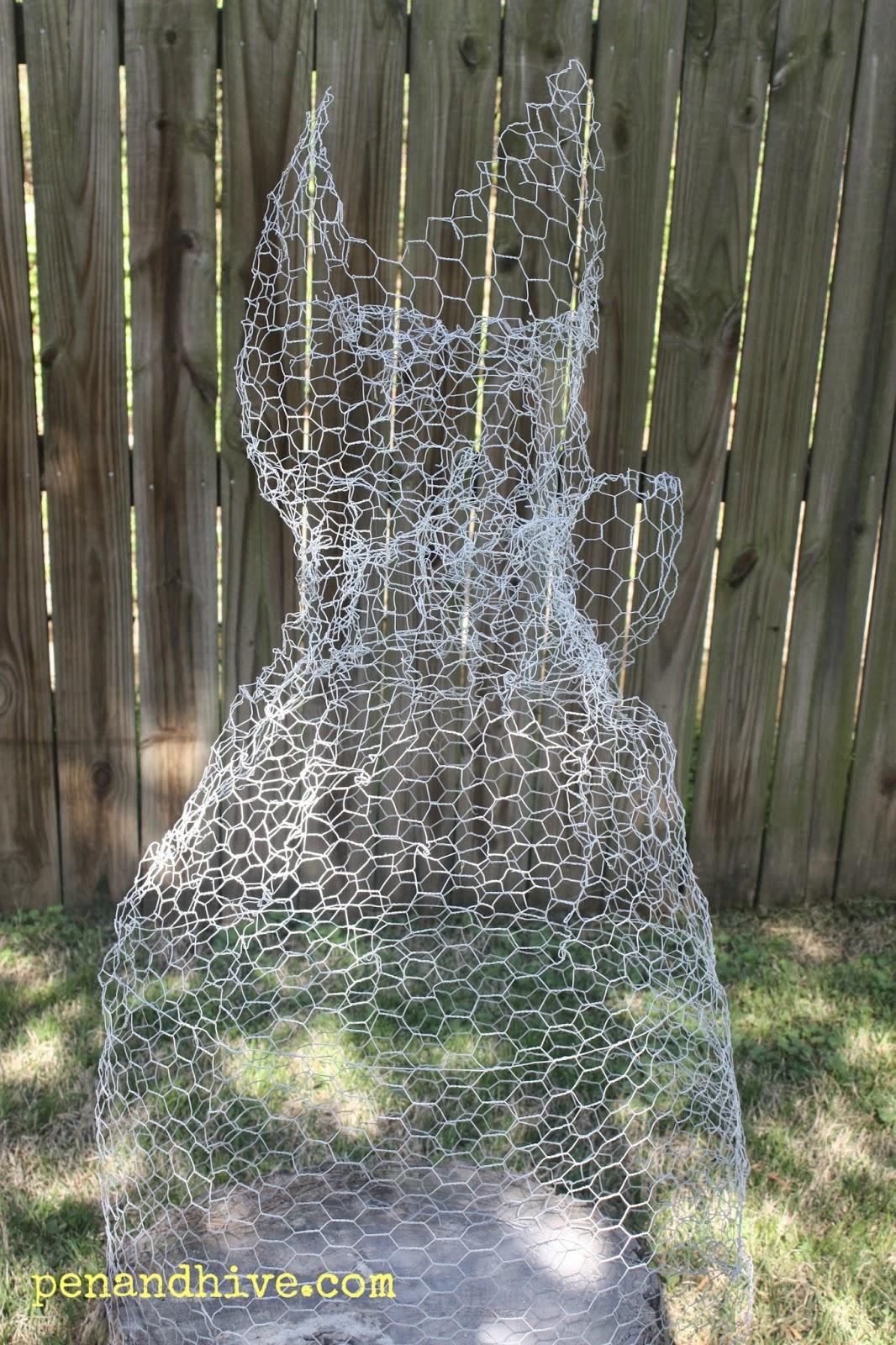 Pen & Hive: Chicken Wire Ghost Sculpture for Garden