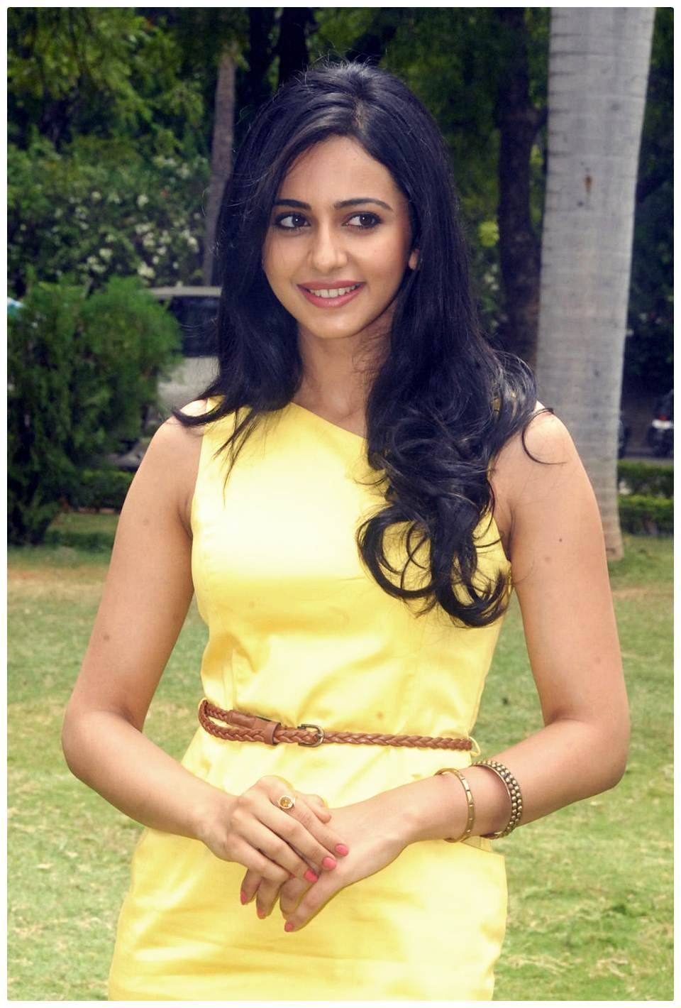 Rakul Preet Singh Gorgeous Photos In Yellow Dress