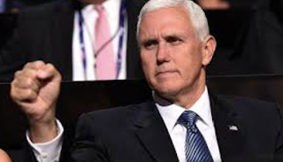 Vice President Mike Pence stops in for an unscheduled chat with billionaire Charles Koch
