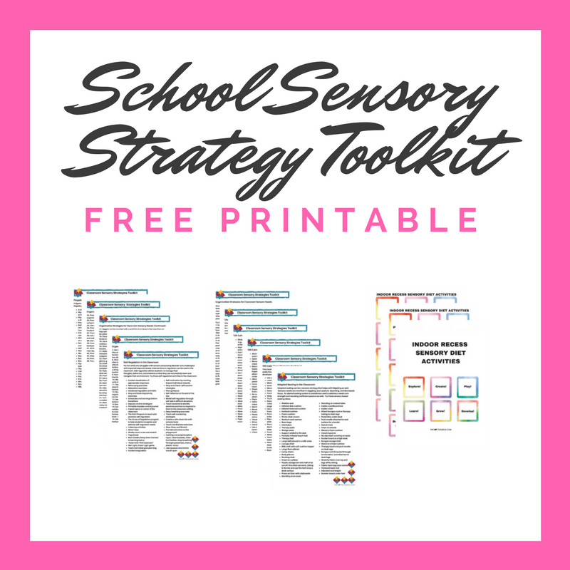 Free classroom sensory strategy toolkit