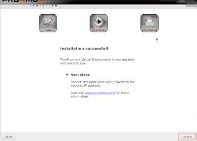 Setelah proses penginstallan selesai klik reboot