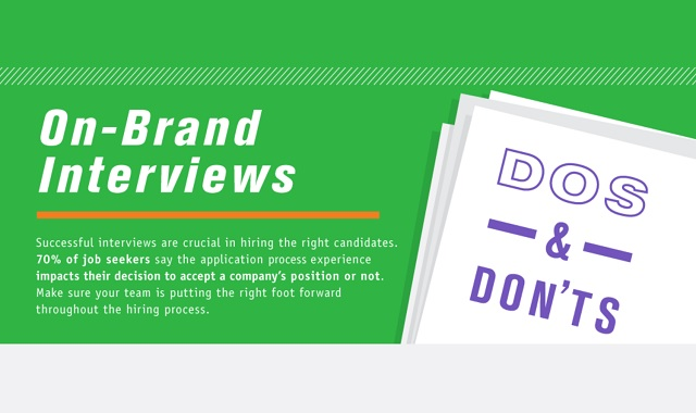 On-Brand Interviews Do\u0027s and Don\u0027ts #infographic ~ Visualistan
