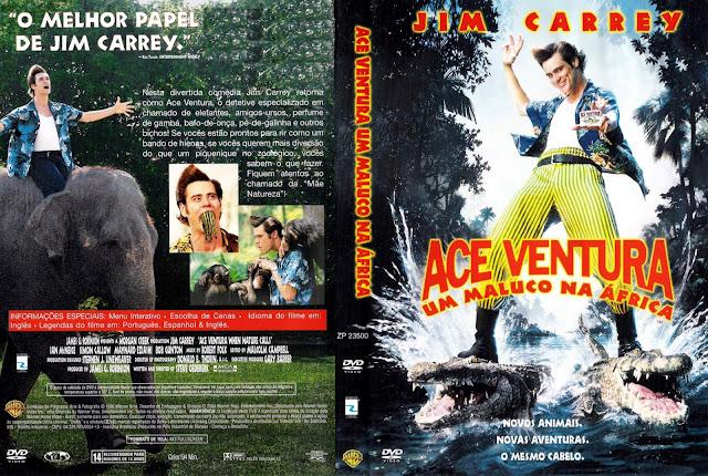 Capa DVD Ace Ventura - Um Maluco na África