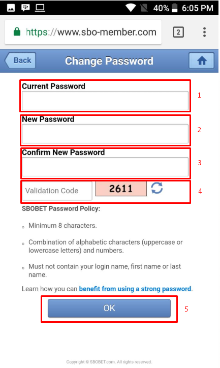 Cara Ganti Password / Sandi Di Sbobet Mobile HP
