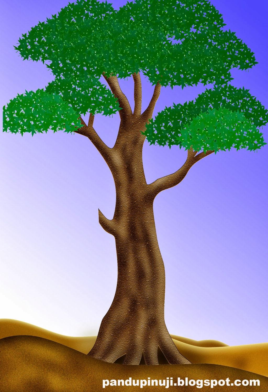 Menggambar Pohon  dengan Photoshop Pandu Pinuji