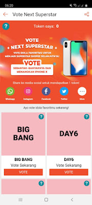 Cara Vote Shopee Next Superstar