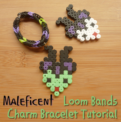 Making a rubber band charm bracelet with the evil Queen from Sleeping Beauty