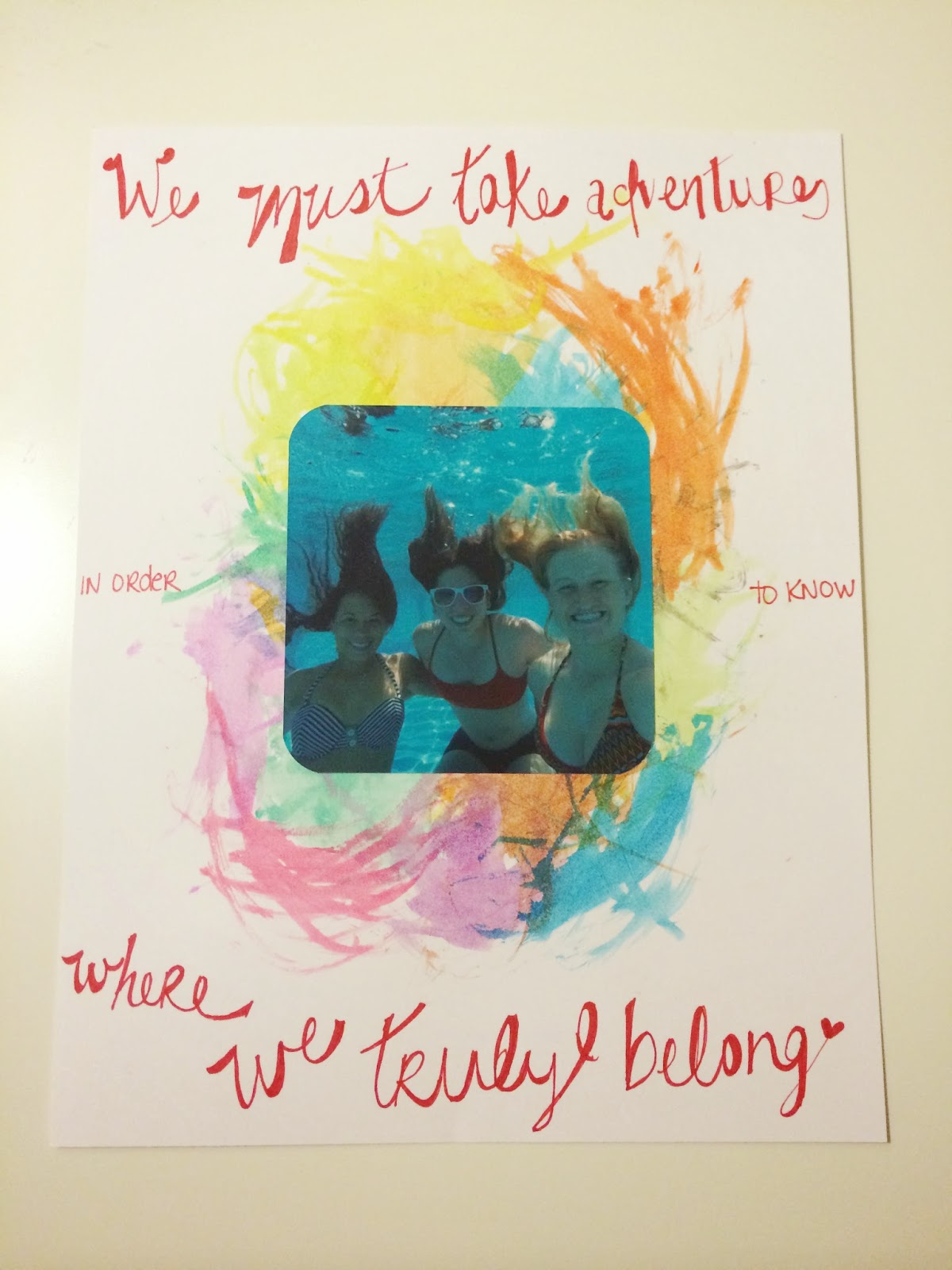 an underwater picture with a quote and watercolor
