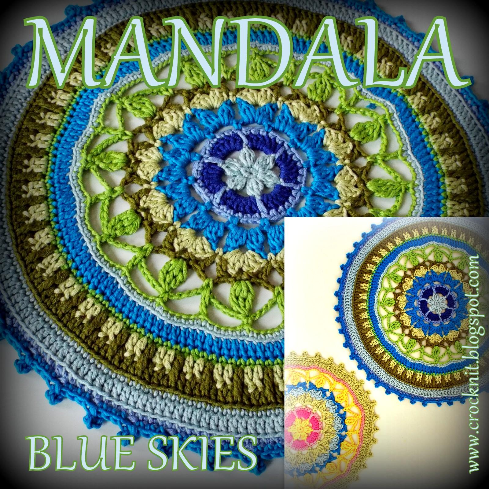 Crochet Patterns For Mandala Yarn : MICROCKNIT CREATIONS: MANDALA Blue Skies Crochet Pattern