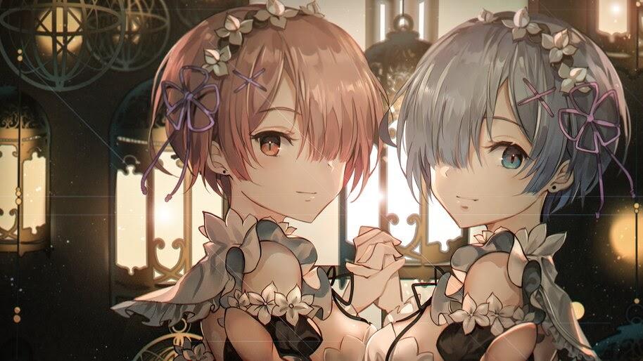 Anime, Girls, Maid, Ram, Rem, Re:Zero, 4K, #4.2704