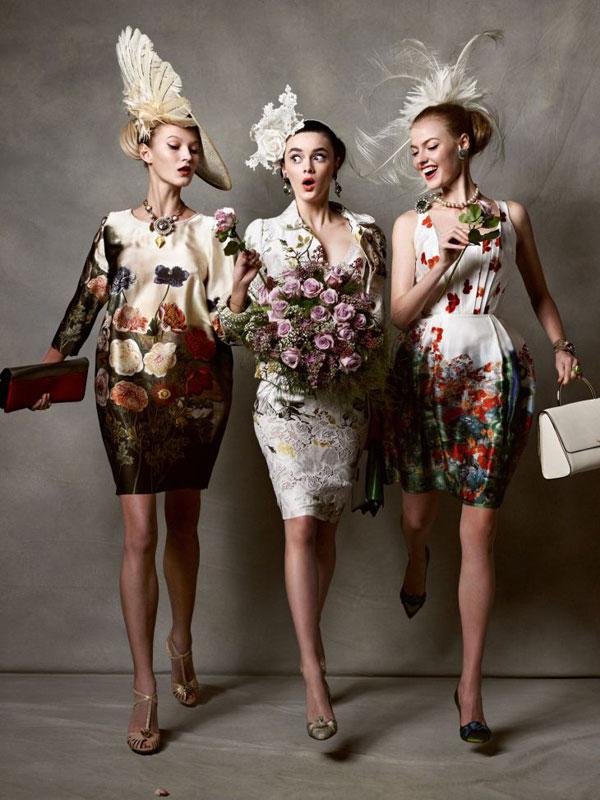 """Kristian Schuller's """"Racy Ladies"""", for Tatler UK May 2011"""