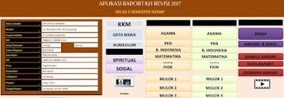 Aplikasi Raport K-13 Kelas 2 Semester 2 SD Revisi 2017