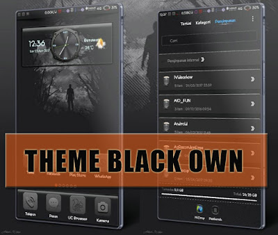 Download Tema Xiaomi Black Own Theme Mtz Terbaru