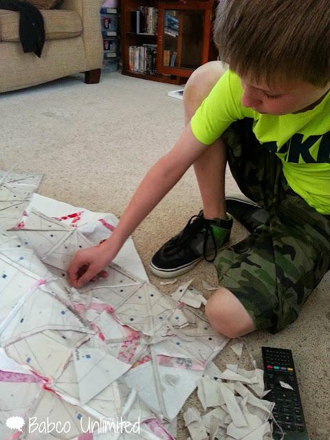 BabcoUnlimited.blogspot.com - Paper Piecing Quit Tops