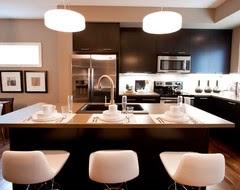 dark cabinets high contrast