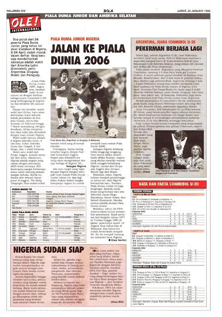 PIALA DUNIA JUNIOR NIGERIA JALAN KE PIALA DUNIA 2006