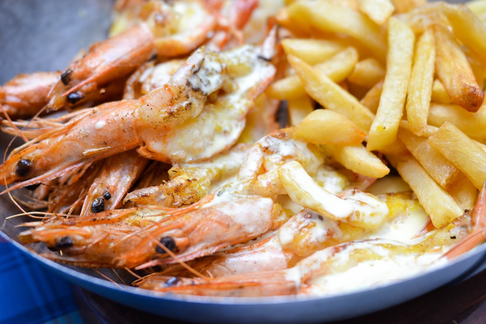 Prince Prawns and Chips from Ocean Basket