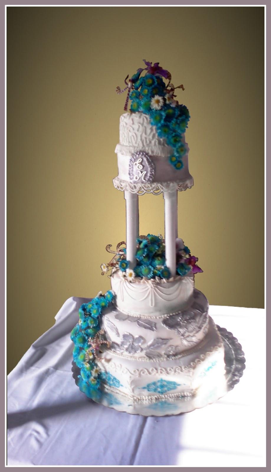 Pasteles Decorados Angel Azul - Fotos-de-pasteles-decorados