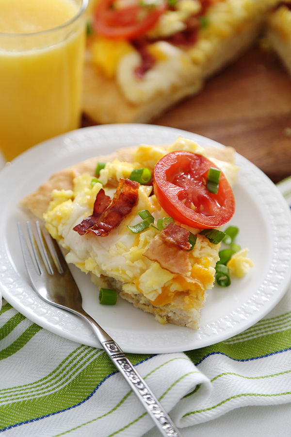 Breakfast Pizza with Biscuit Crust