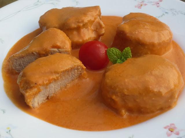 Solomillo en salsa de almendras Ana Sevilla