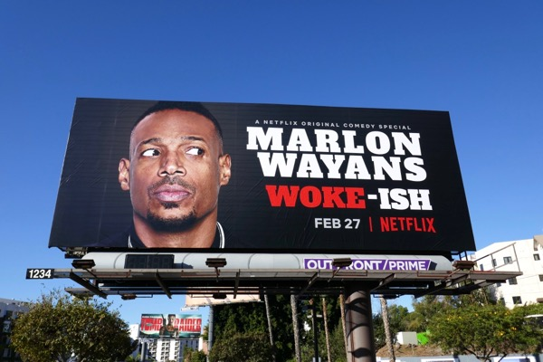 Marlon Wayans Woke-ish billboard