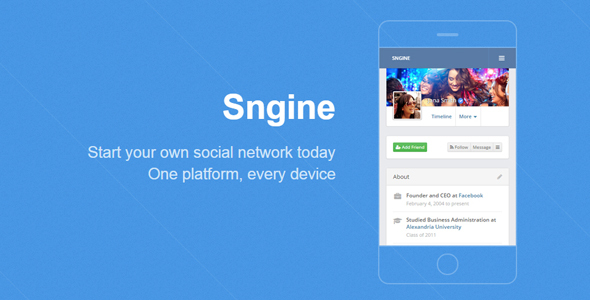 Sngine v2.5.5 - The Ultimate PHP Social Network Platform